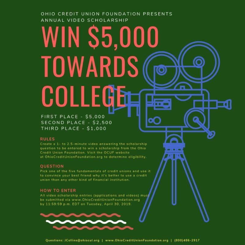 Ohio Credit Union League Video Scholarship