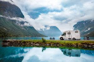 Rv in mountain scenery